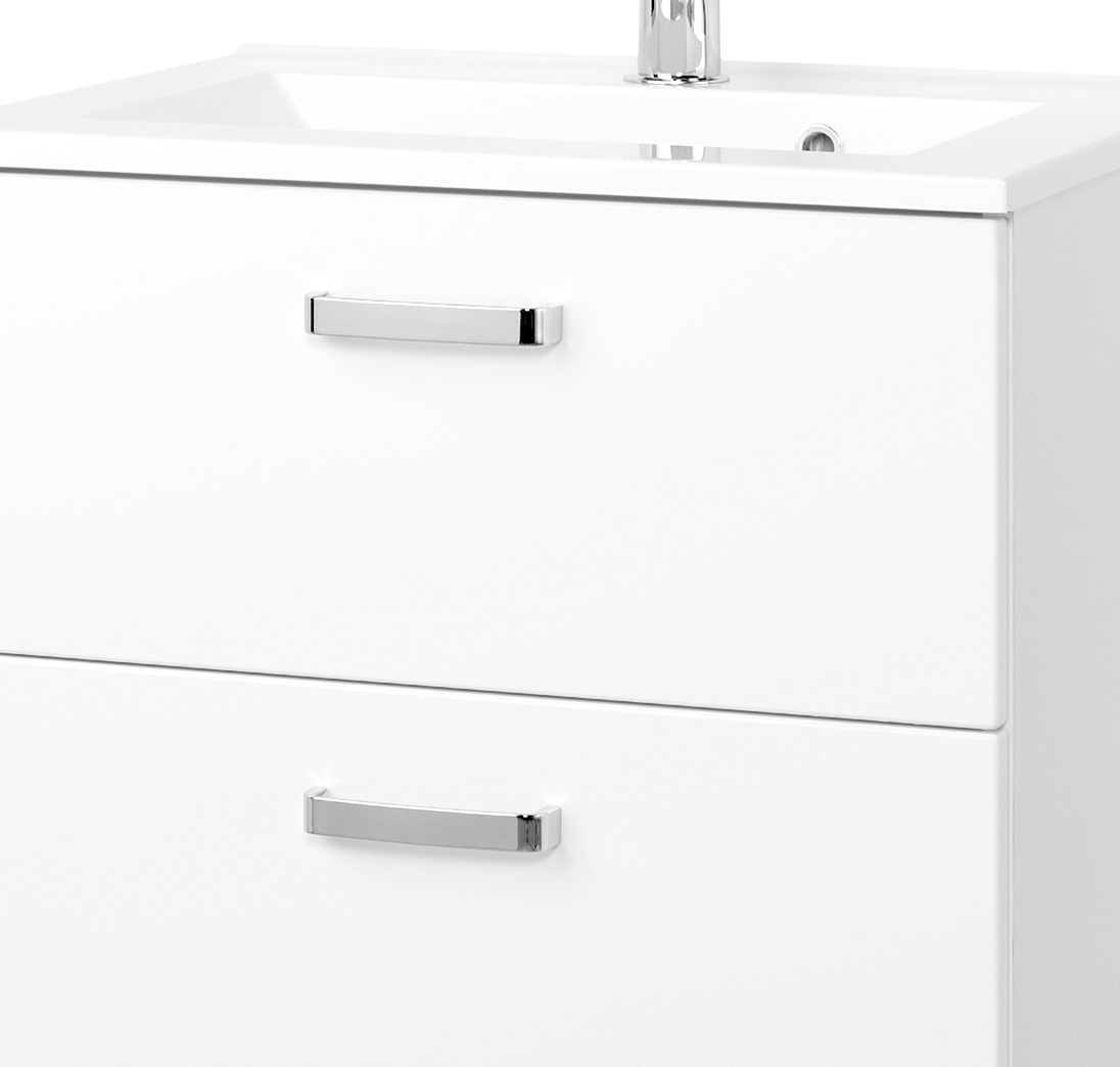 neu badezimmer waschtisch mit becken bologna waschplatz 60cm weiss ebay