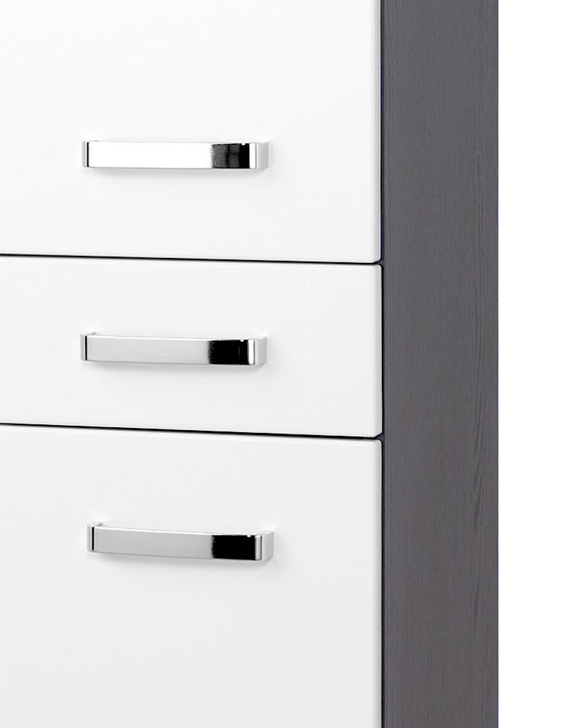neu badezimmer hochschrank bologna badezimmerschrank seitenschrank weiss grau ebay. Black Bedroom Furniture Sets. Home Design Ideas