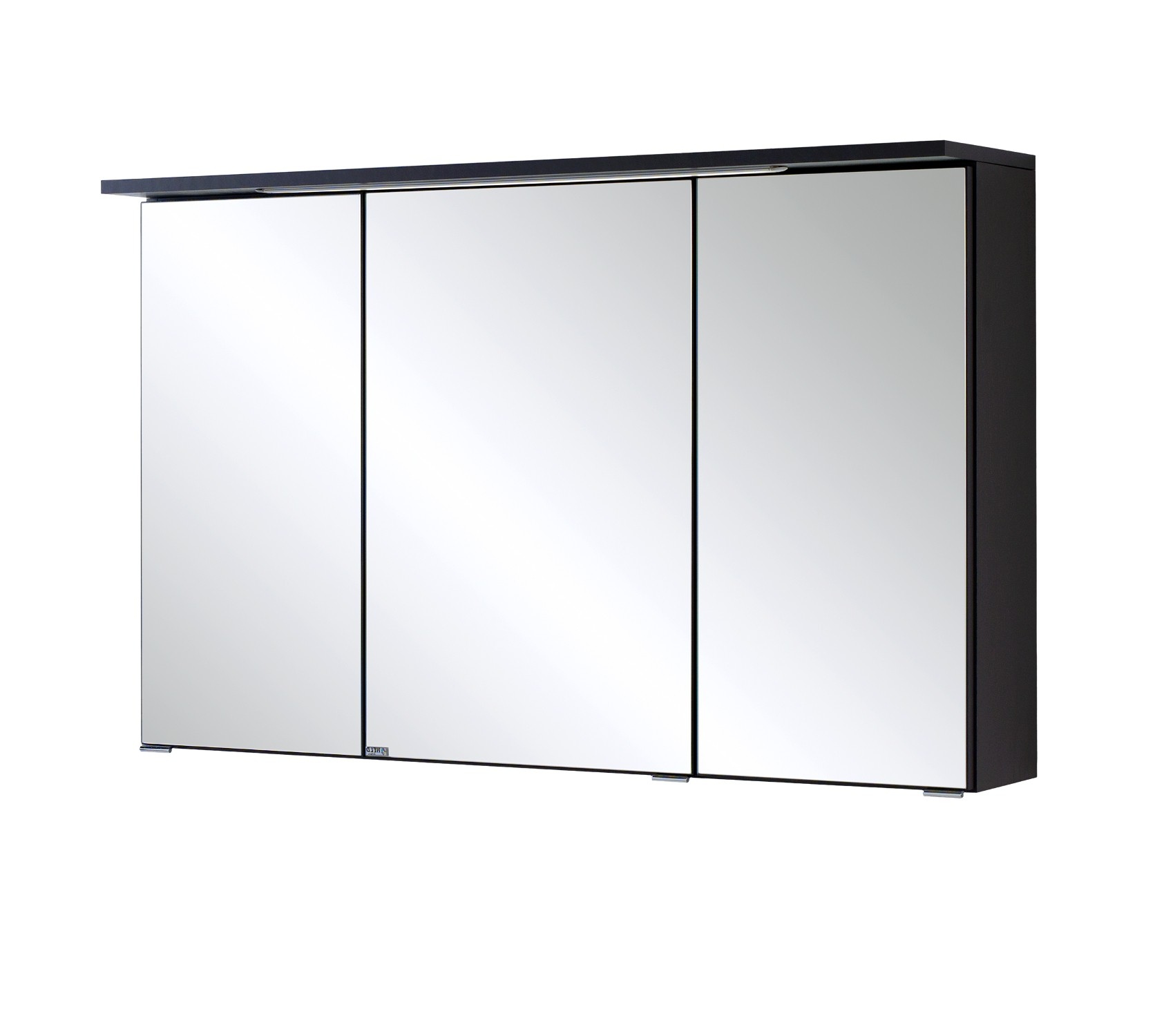 bad spiegelschrank bologna 3 t rig mit led lichtleiste 100 cm breit graphitgrau bad bologna. Black Bedroom Furniture Sets. Home Design Ideas