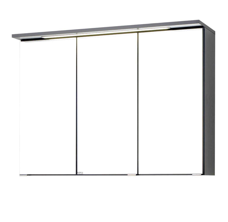 Bad spiegelschrank bologna 3 t rig mit led lichtleiste for Badezimmer 90 cm