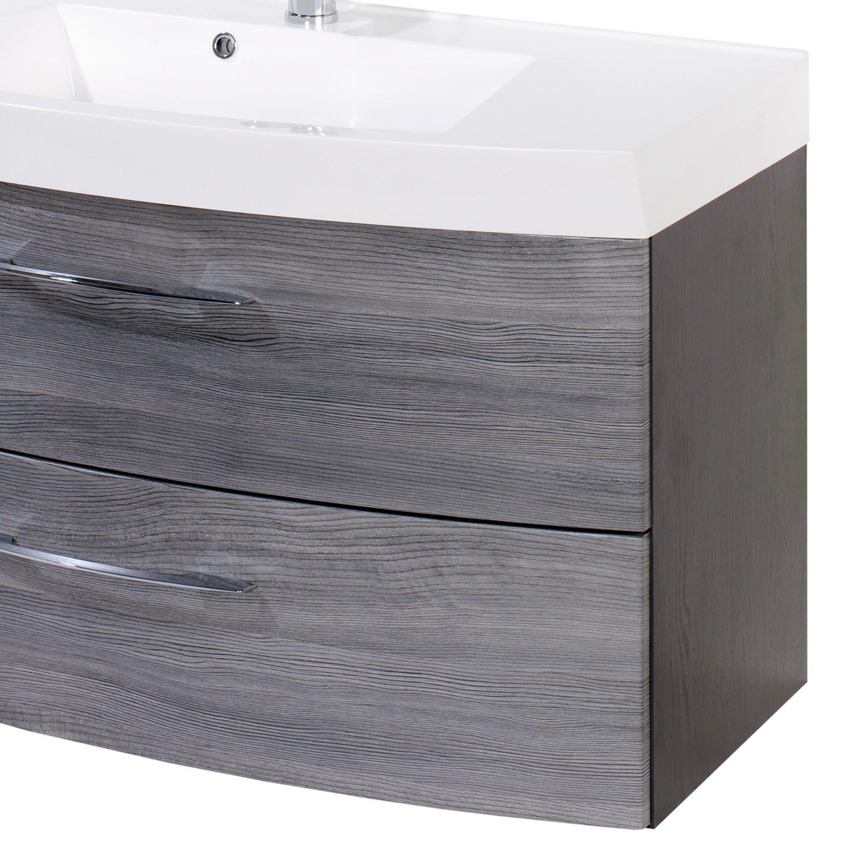 badm bel set florida mit waschtisch und spiegelschrank 4 teilig 100 cm breit eiche. Black Bedroom Furniture Sets. Home Design Ideas