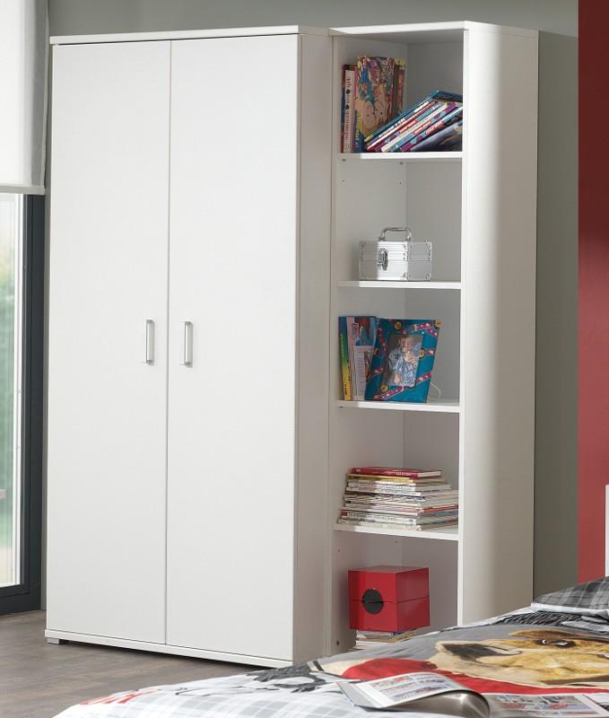 jugendzimmer milan komplett mit einzelbett bettschublade kleiderschrank 2 t rig. Black Bedroom Furniture Sets. Home Design Ideas