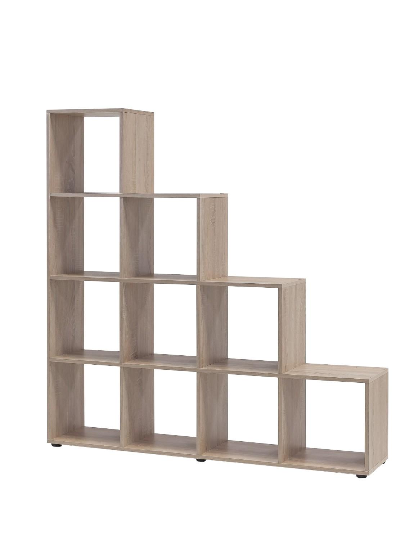 stufenregal maik 10 f cher eiche sonoma wohnen regale. Black Bedroom Furniture Sets. Home Design Ideas
