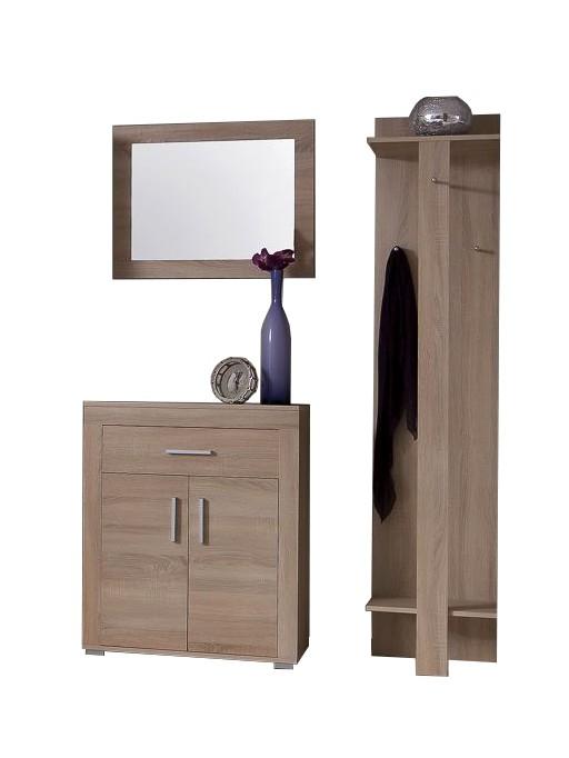 garderobenset lake 110 cm breit 3 teilig eiche sonoma. Black Bedroom Furniture Sets. Home Design Ideas