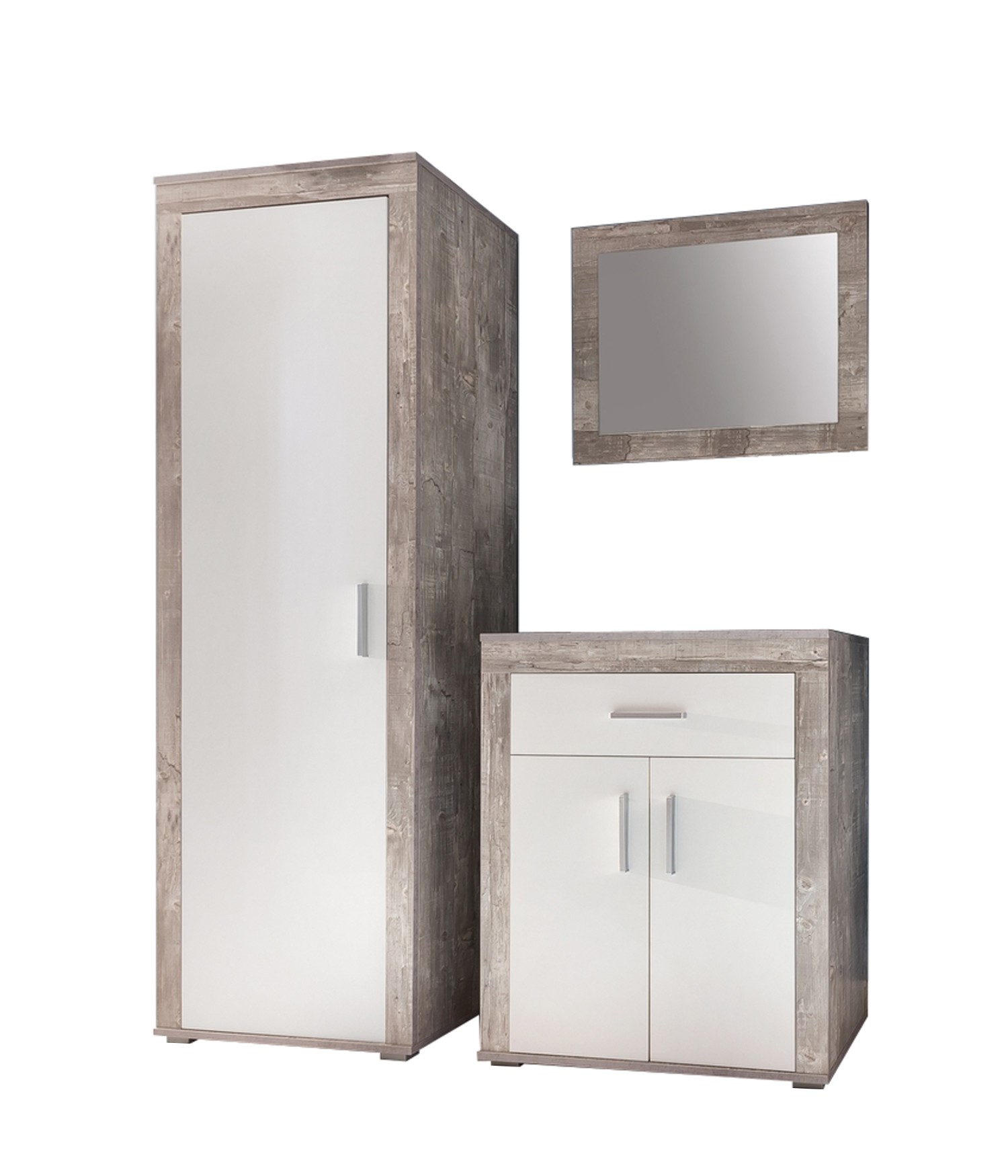 spannende garderoben set grau fotos erindzain. Black Bedroom Furniture Sets. Home Design Ideas