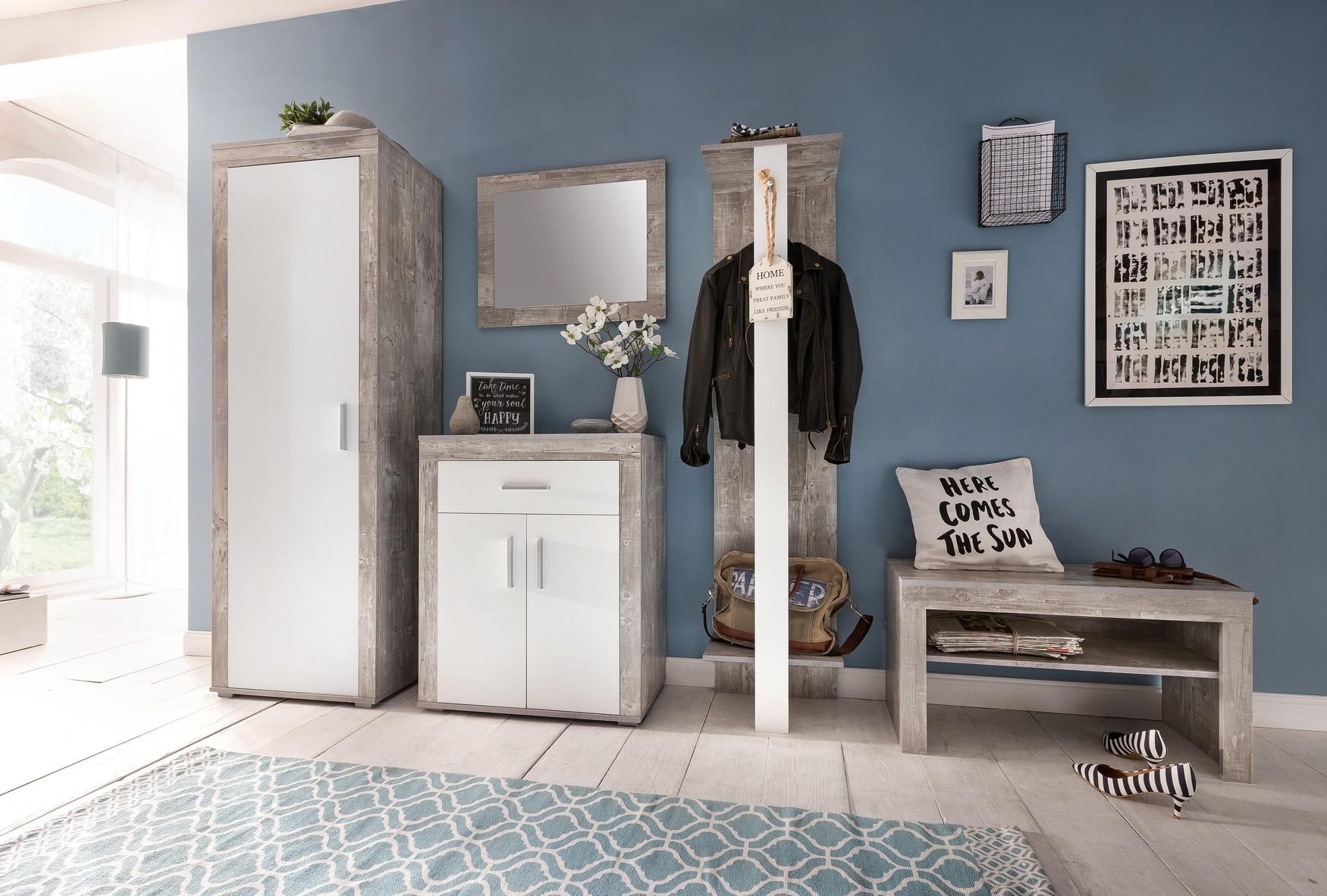 kommode lake 2 t rig 1 schublade 70 cm breit wei beton. Black Bedroom Furniture Sets. Home Design Ideas
