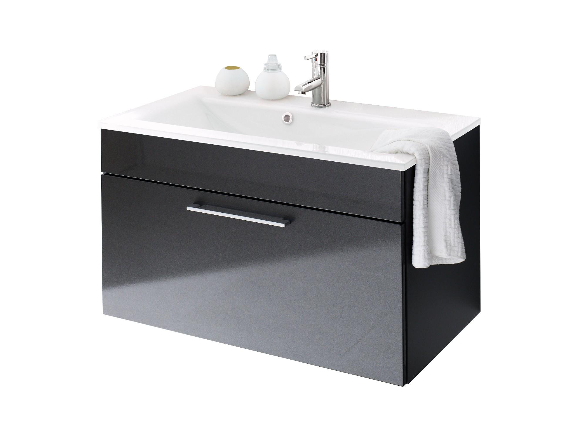 bad waschtisch hera mit mineralgussbecken 90 cm breit hochglanz anthrazit bad hera. Black Bedroom Furniture Sets. Home Design Ideas