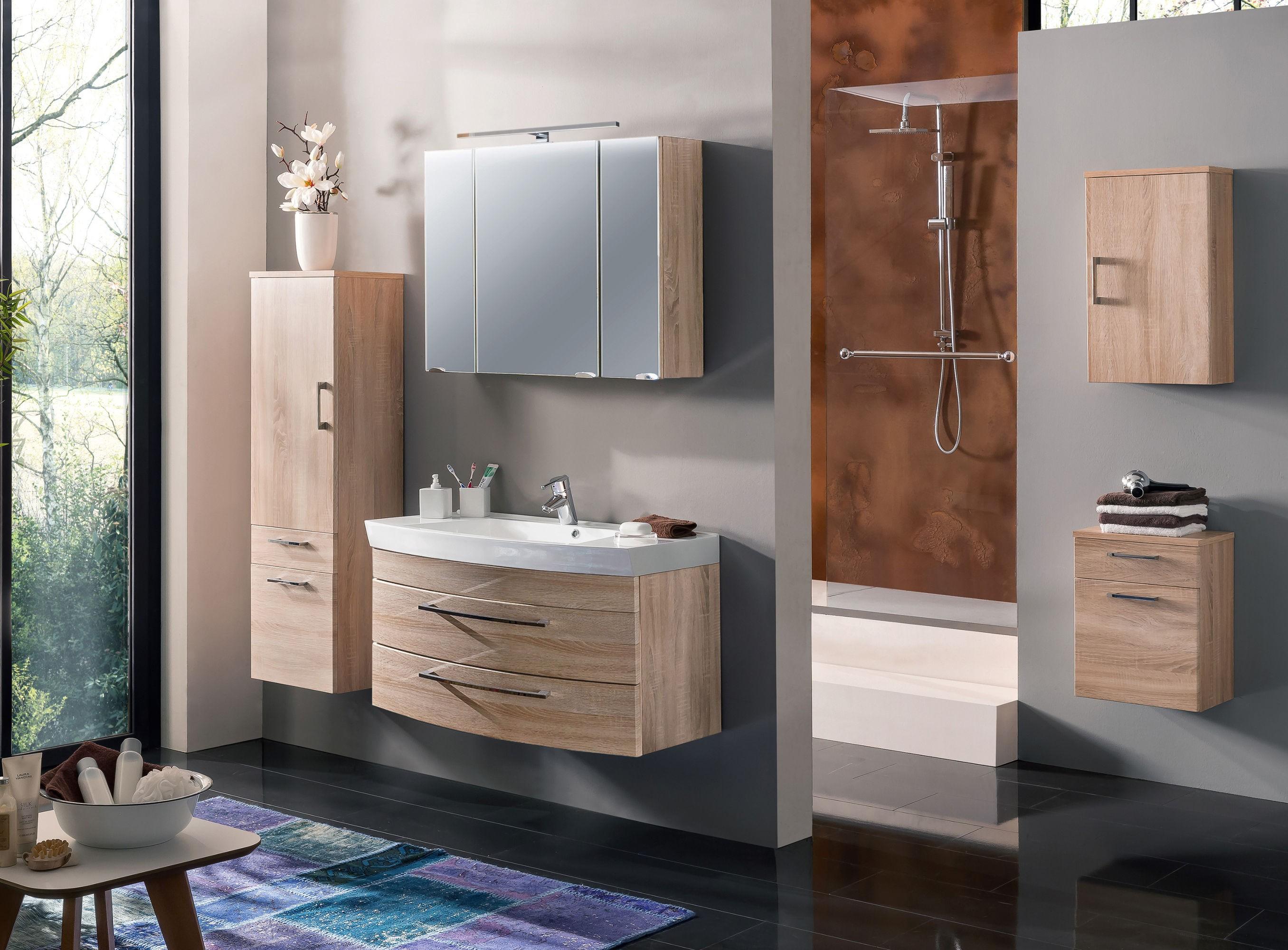 bad h ngeschrank rima 1 t rig 40 cm breit eiche sonoma bad rima. Black Bedroom Furniture Sets. Home Design Ideas