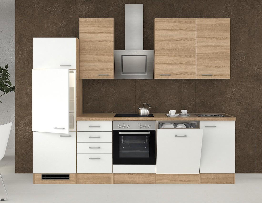 k chenzeile rom k che mit e ger ten 15 teilig breite 280 cm wei k che rom. Black Bedroom Furniture Sets. Home Design Ideas
