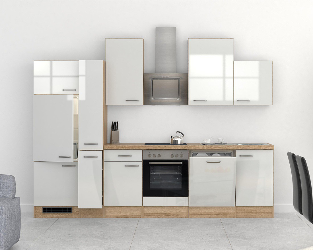 Küchen Unterschrank VENEDIG 2 türig 80 cm breit Weiß