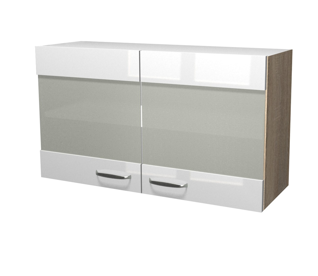neu k chen h ngeschrank venedig glash ngeschrank 100cm weiss sonoma ebay. Black Bedroom Furniture Sets. Home Design Ideas