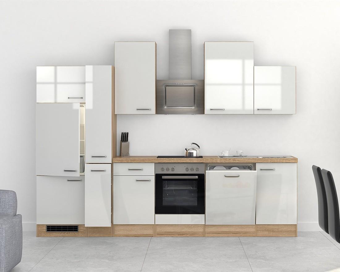 Küchen Hängeschrank VENEDIG 1 türig 30 cm breit Weiß