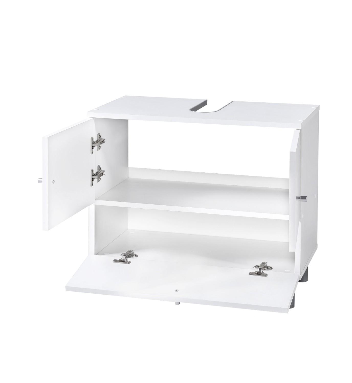 bad waschbeckenunterschrank lindau 2 t rig 1 klappe 60 cm breit wei bad lindau. Black Bedroom Furniture Sets. Home Design Ideas