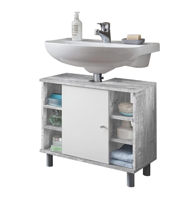 Hervorragend Bad-Waschbeckenunterschrank LINDAU - 1-türig, 6 Fächer - 60 cm  NQ05