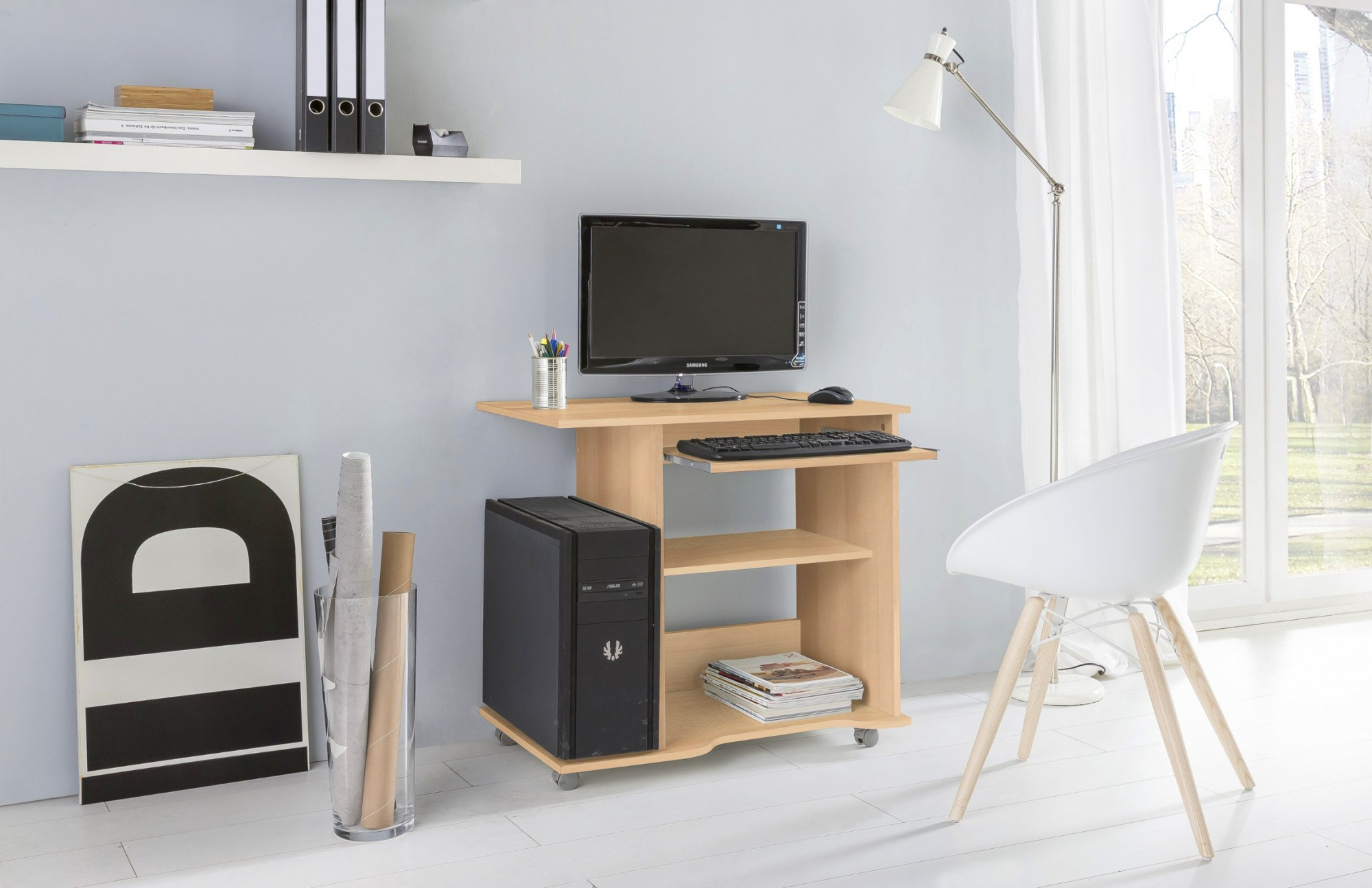 neu pc schreibtisch tom computertisch b rotisch. Black Bedroom Furniture Sets. Home Design Ideas