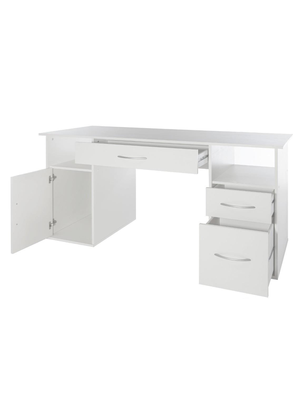 schreibtisch tom 145 cm breit wei wohnen office. Black Bedroom Furniture Sets. Home Design Ideas