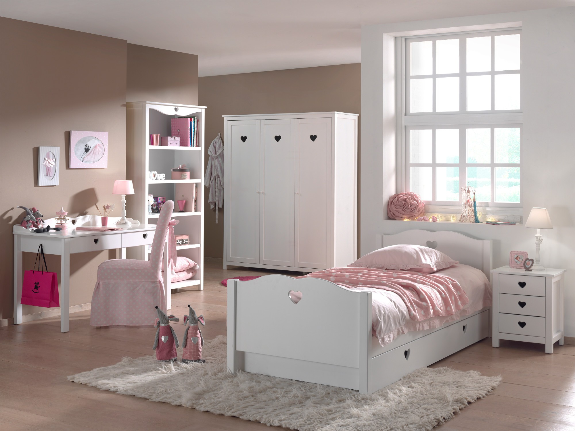 schminktisch amori wei kinder jugendzimmer beistellm bel. Black Bedroom Furniture Sets. Home Design Ideas