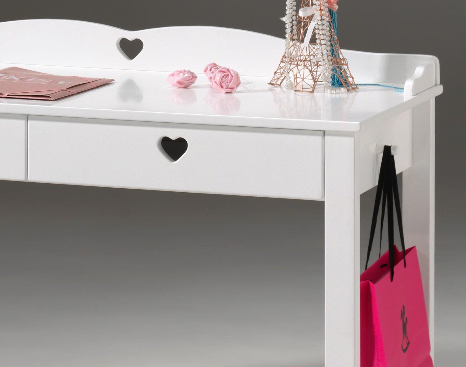 neu schreibtisch amori m dchen schreibtisch kinderschreibtisch schubladen weiss ebay. Black Bedroom Furniture Sets. Home Design Ideas