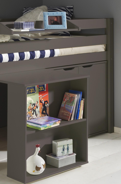 funktions hochbett pino mit schreibtisch und 2 kommoden. Black Bedroom Furniture Sets. Home Design Ideas