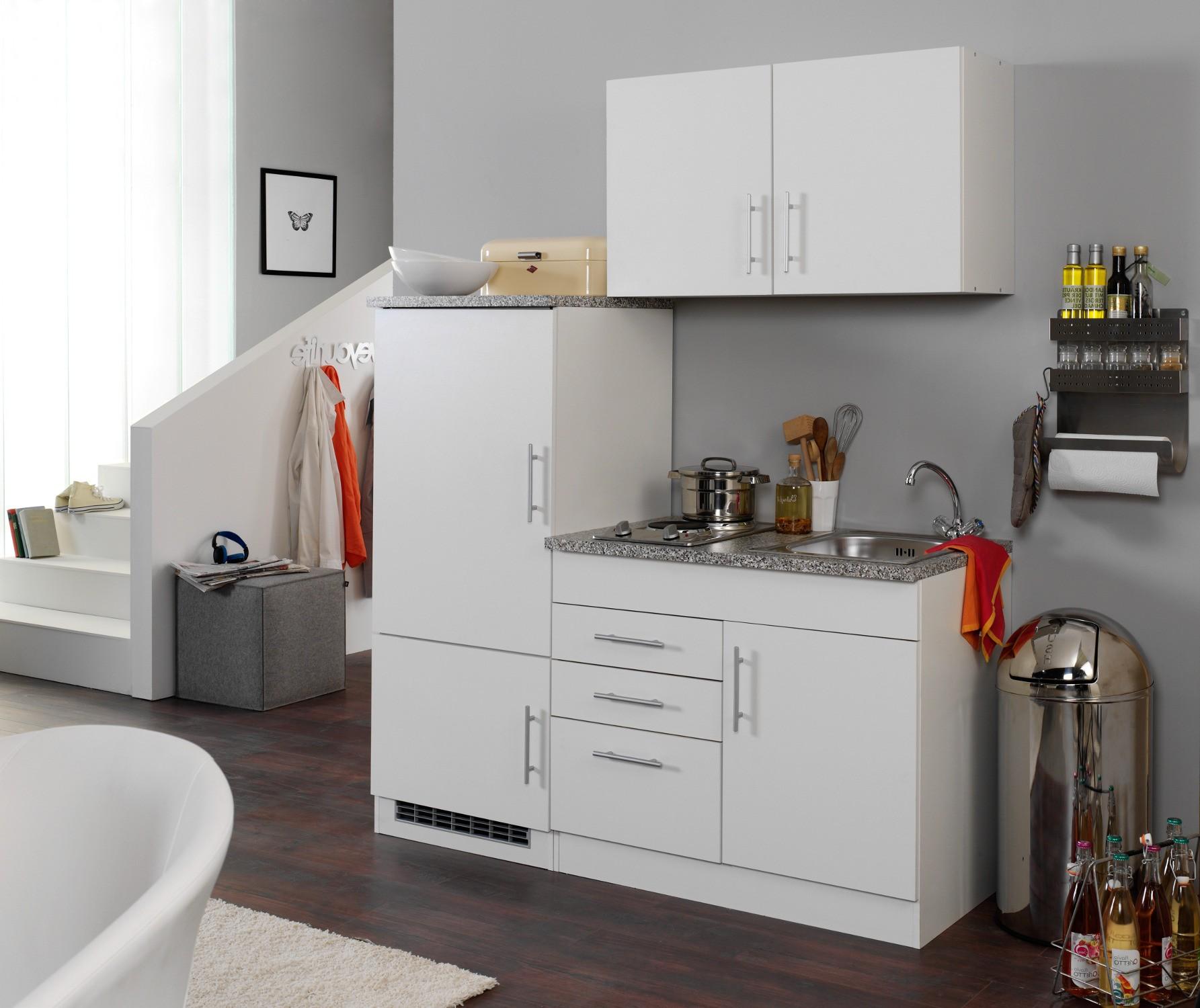 Singlek che berlin breite 160 cm wei k che singlek chen - Cucine per miniappartamenti ...