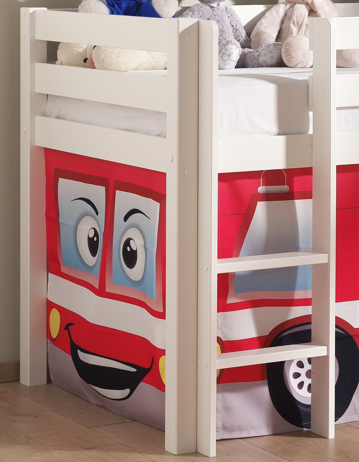 neu spielbett pino feuerwehr kinderbett hochbett 90 x 200. Black Bedroom Furniture Sets. Home Design Ideas