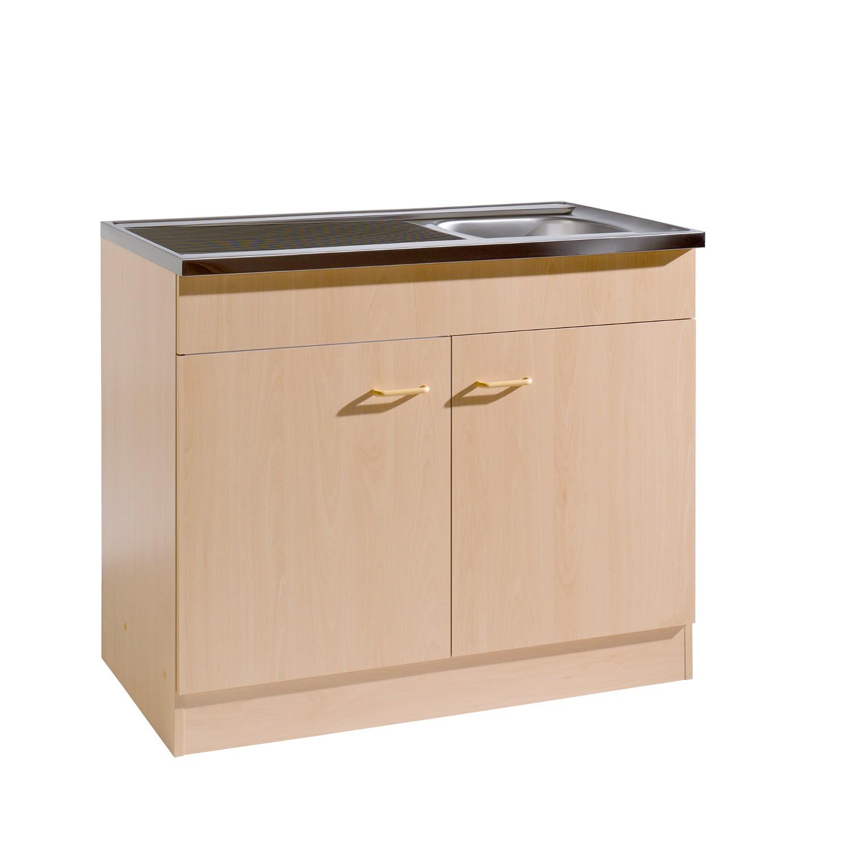 Küchen Spülenschrank 2 türig Breite 100 cm Tiefe 60