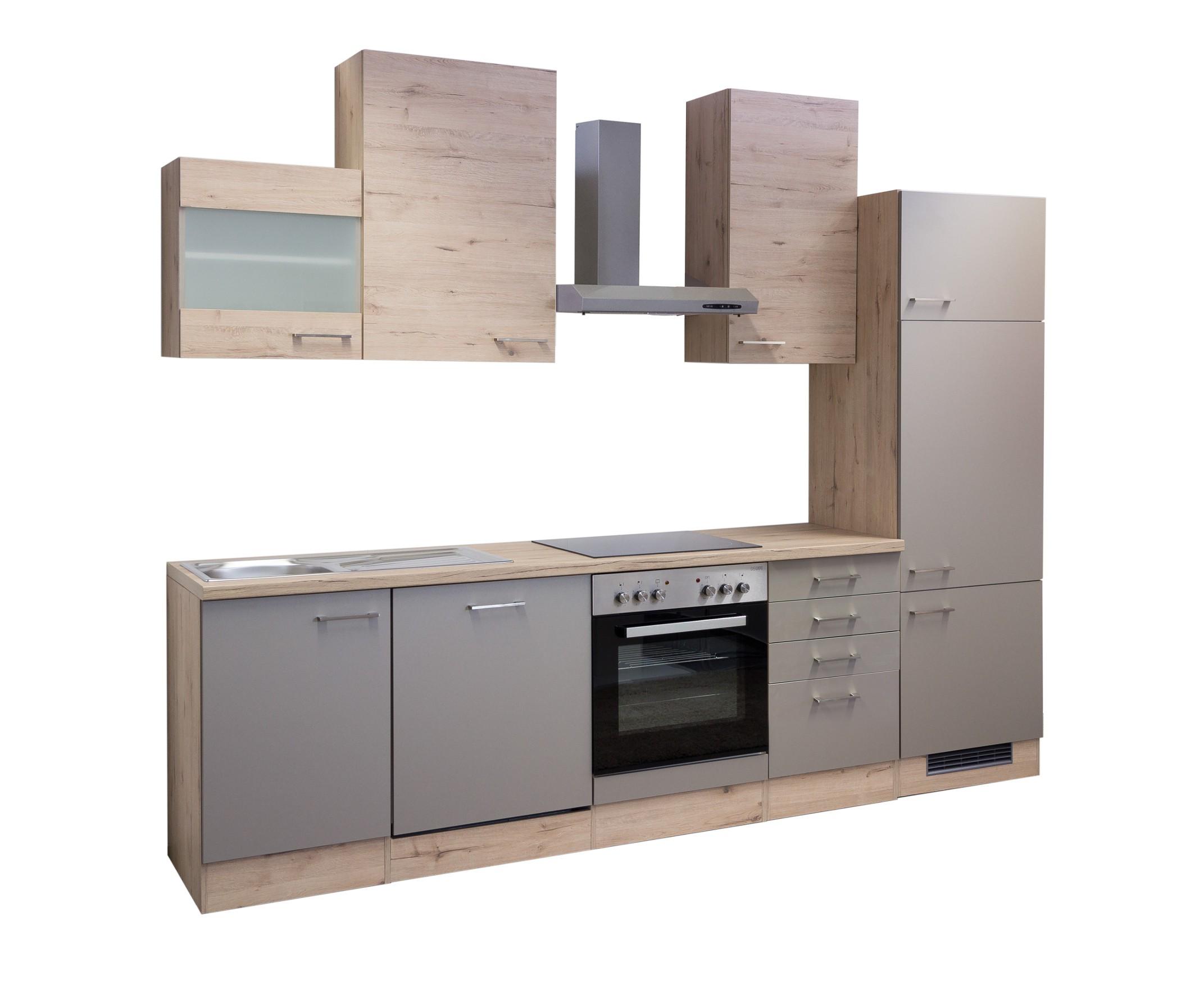 k che riva k chenzeile k chenblock mit elektroger ten 280 cm bronze metallic ebay. Black Bedroom Furniture Sets. Home Design Ideas