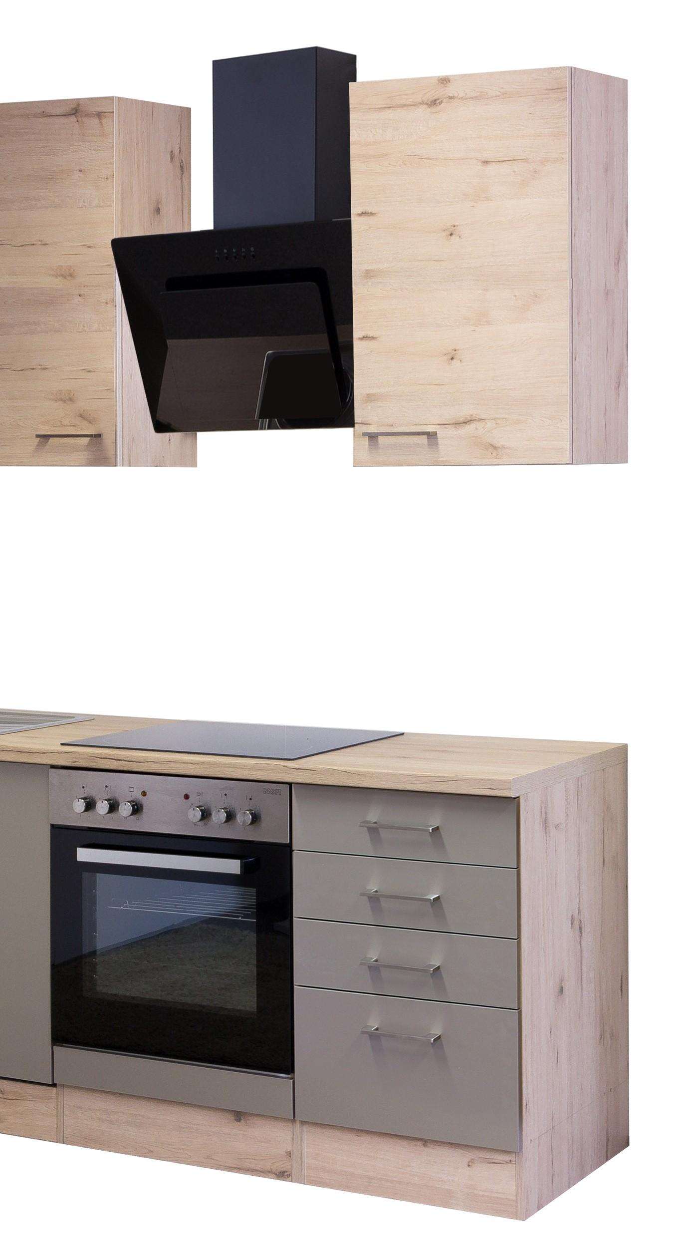 k chenblock riva k chenzeile mit elektroger ten 220 cm bronze metallic ebay. Black Bedroom Furniture Sets. Home Design Ideas