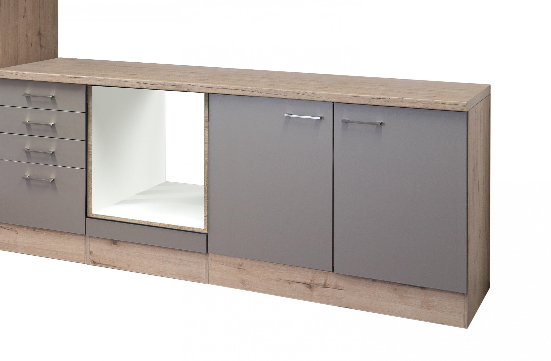 k chenblock riva k chenzeile k chen leerblock 270 cm bronze metallic ebay. Black Bedroom Furniture Sets. Home Design Ideas