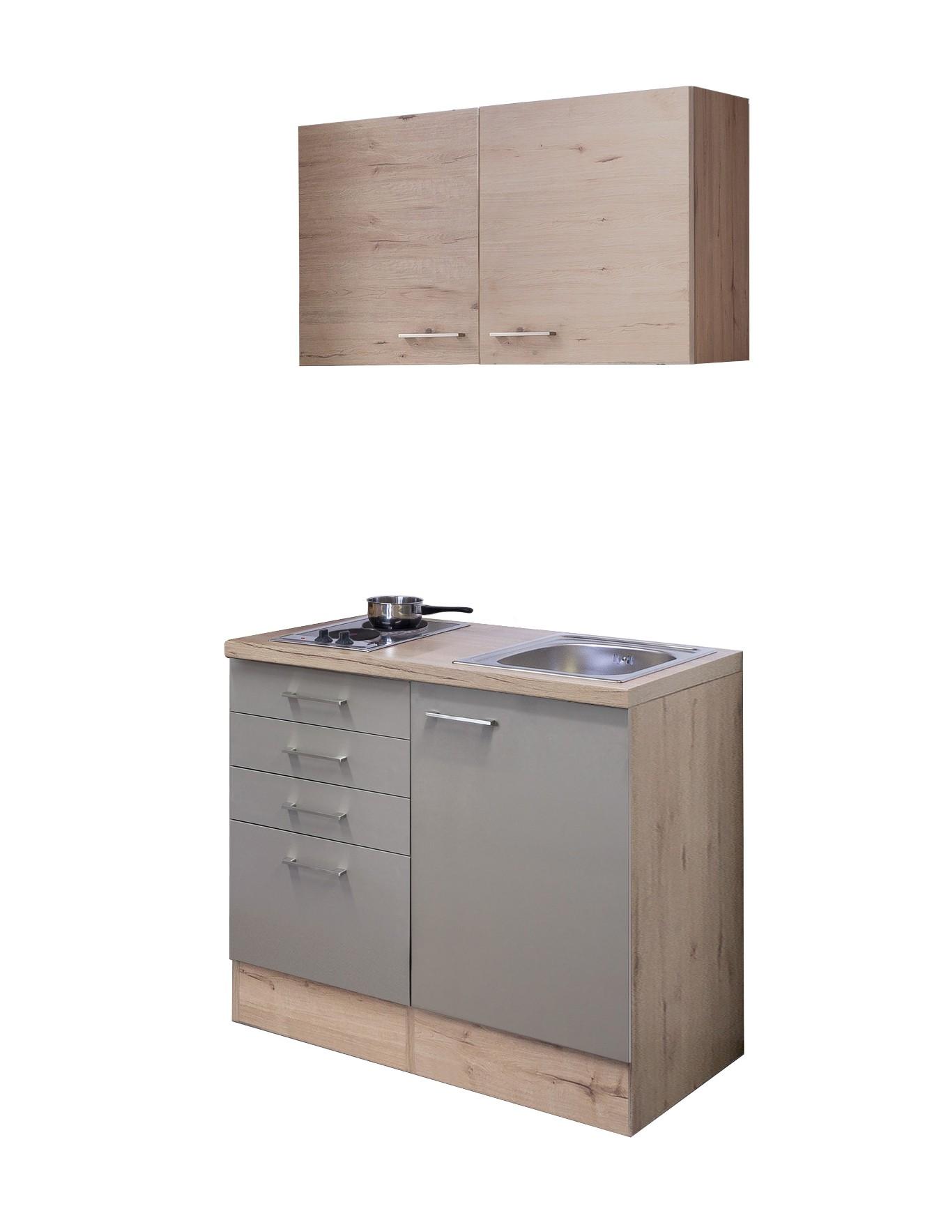 Top Singleküche RIVA - Breite 100 cm - Bronze Metallic Küche Singleküchen PD26