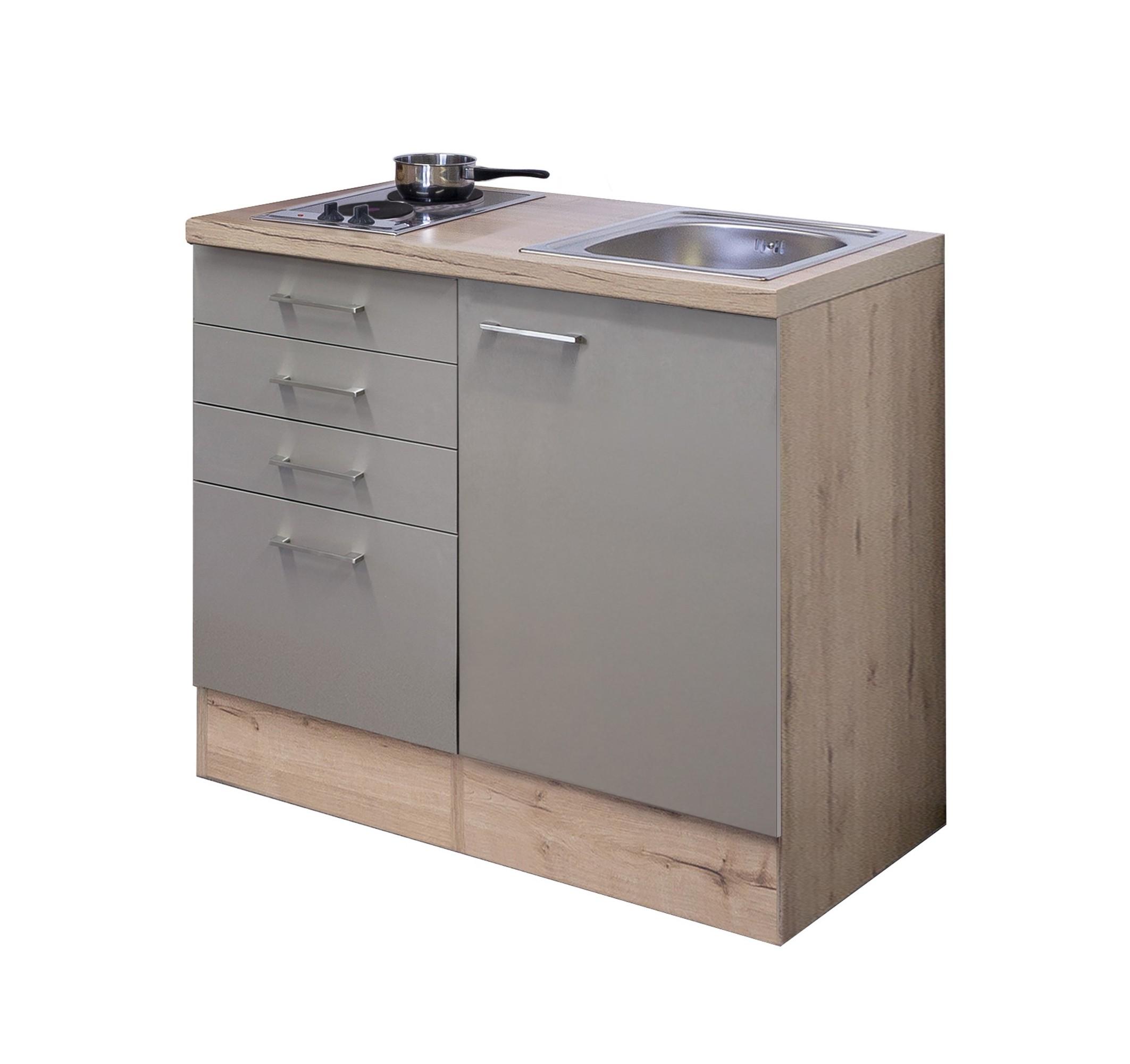Erstaunlich Singleküche RIVA - Breite 100 cm - Bronze Metallic Küche Singleküchen XY78