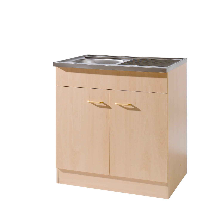 k chen sp lenschrank 2 t rig breite 80 cm tiefe 50 cm. Black Bedroom Furniture Sets. Home Design Ideas