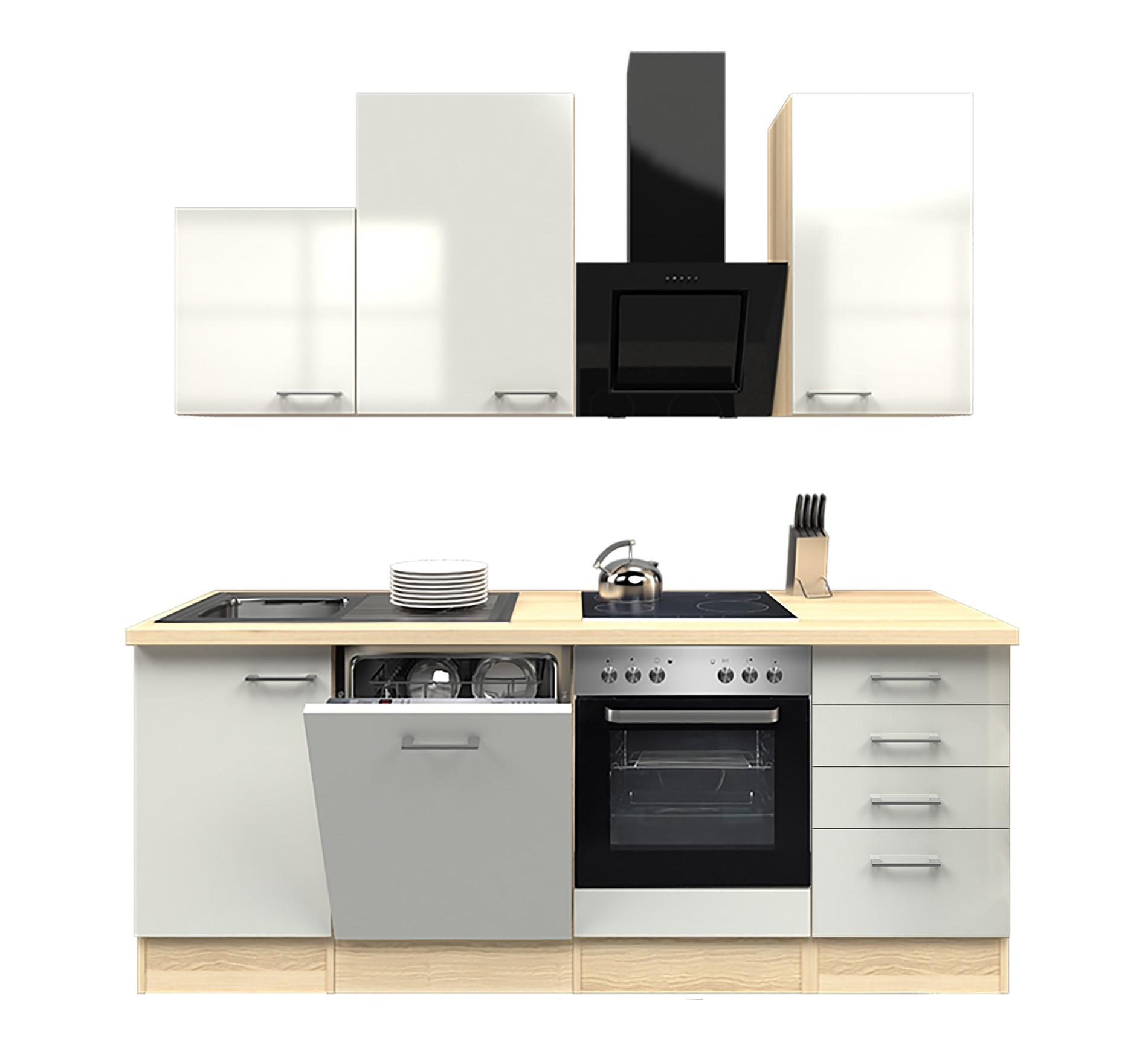 Küchenzeile FLORENZ Küche mit Auszugs Unterschrank
