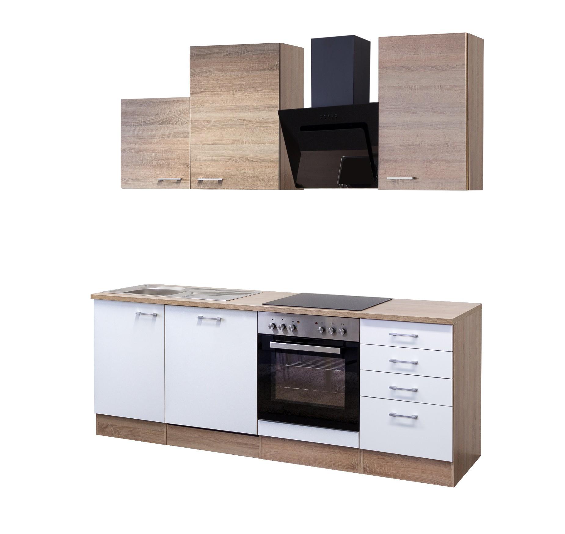 Kuchenzeile rom kuche mit auszugs unterschrank breite for Küchenzeile 180 cm breit