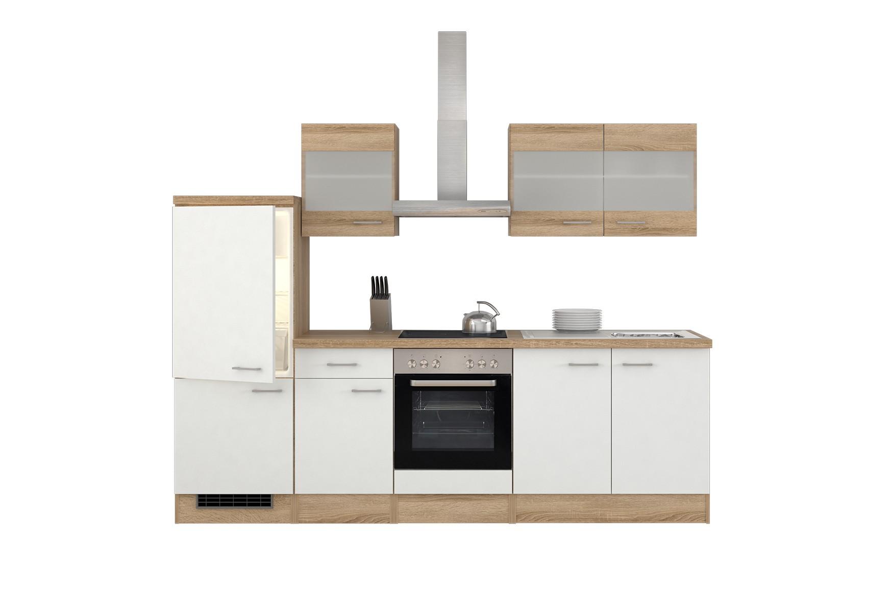 k chenzeile rom mit midi umbauschrank und e ger ten 12 teilig breite 270 cm wei k che. Black Bedroom Furniture Sets. Home Design Ideas
