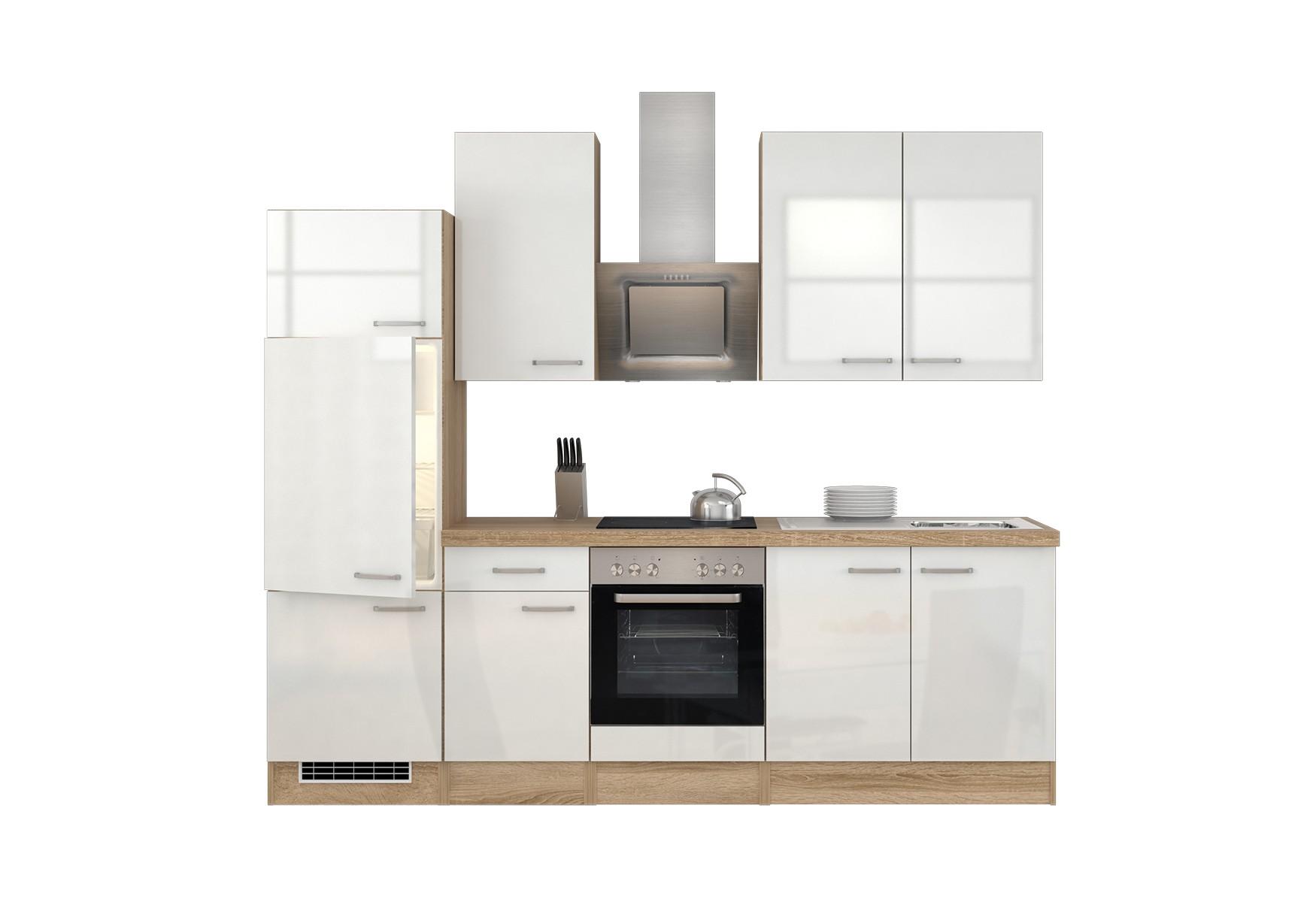 k chenzeile venedig k che mit e ger ten und est haube breite 270 cm wei k che k chenzeilen. Black Bedroom Furniture Sets. Home Design Ideas