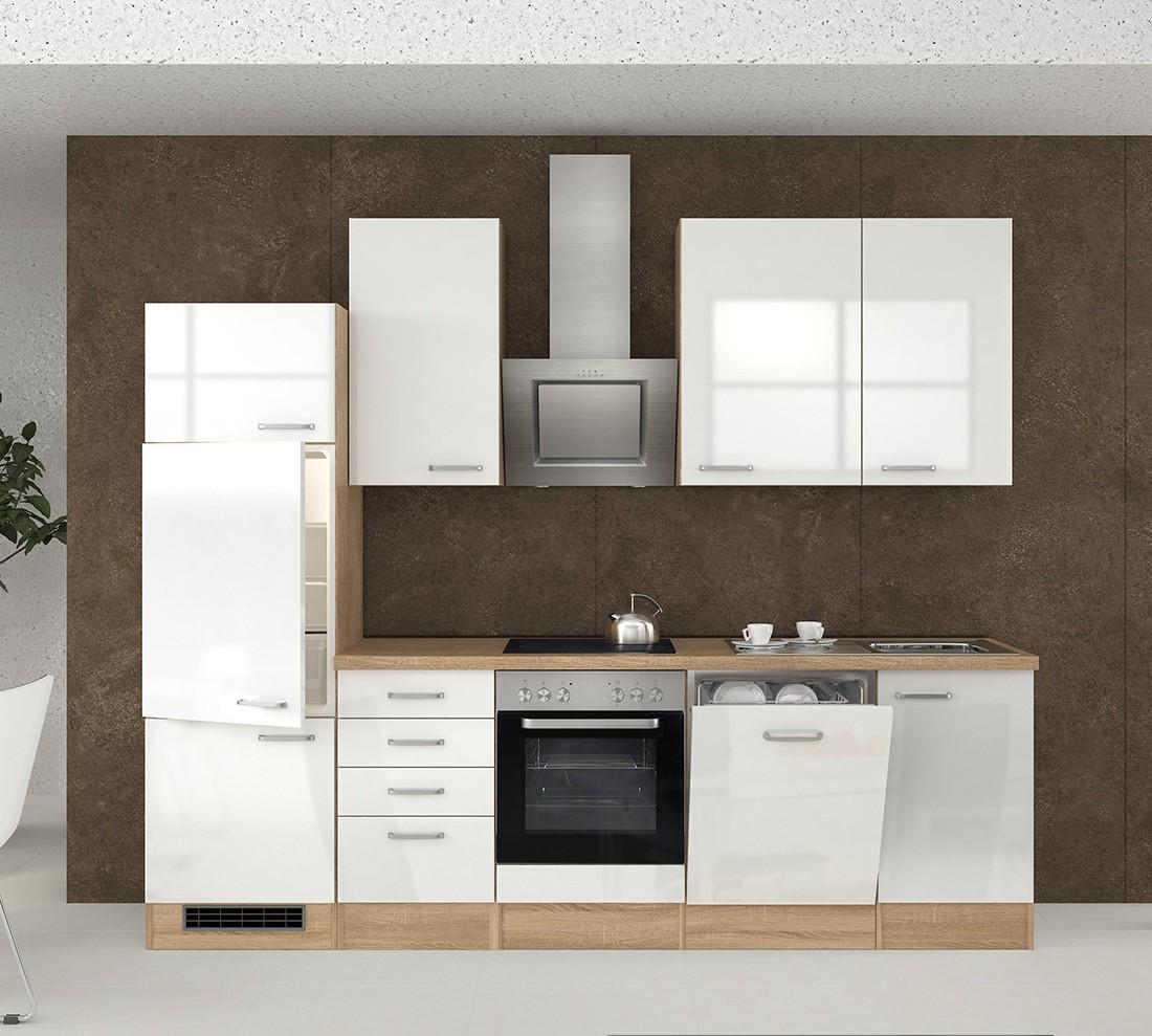 k chenzeile venedig k che mit e ger ten 14 teilig breite 280 cm wei k che k chenzeilen. Black Bedroom Furniture Sets. Home Design Ideas