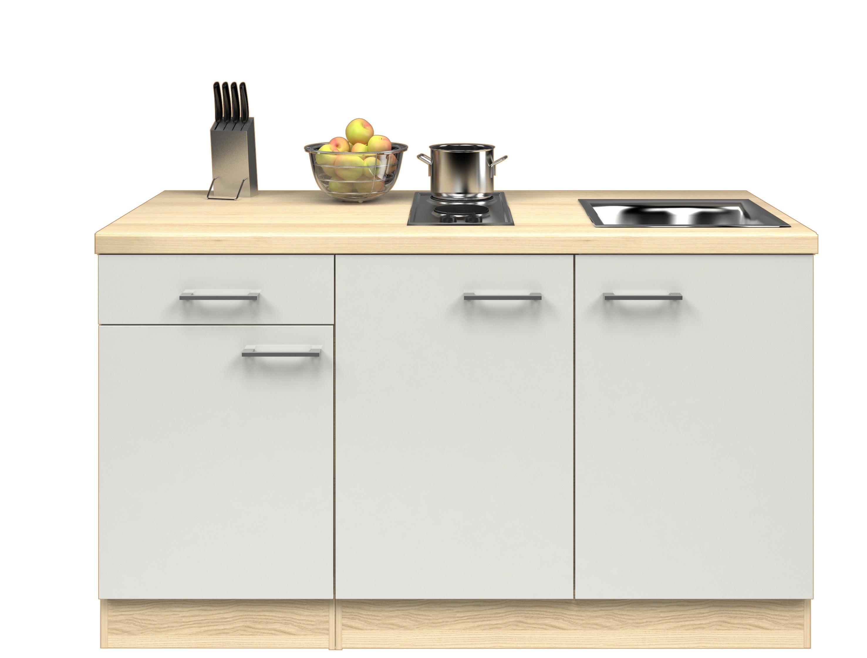singlek che florenz breite 150 cm perlmutt wei k che singlek chen. Black Bedroom Furniture Sets. Home Design Ideas
