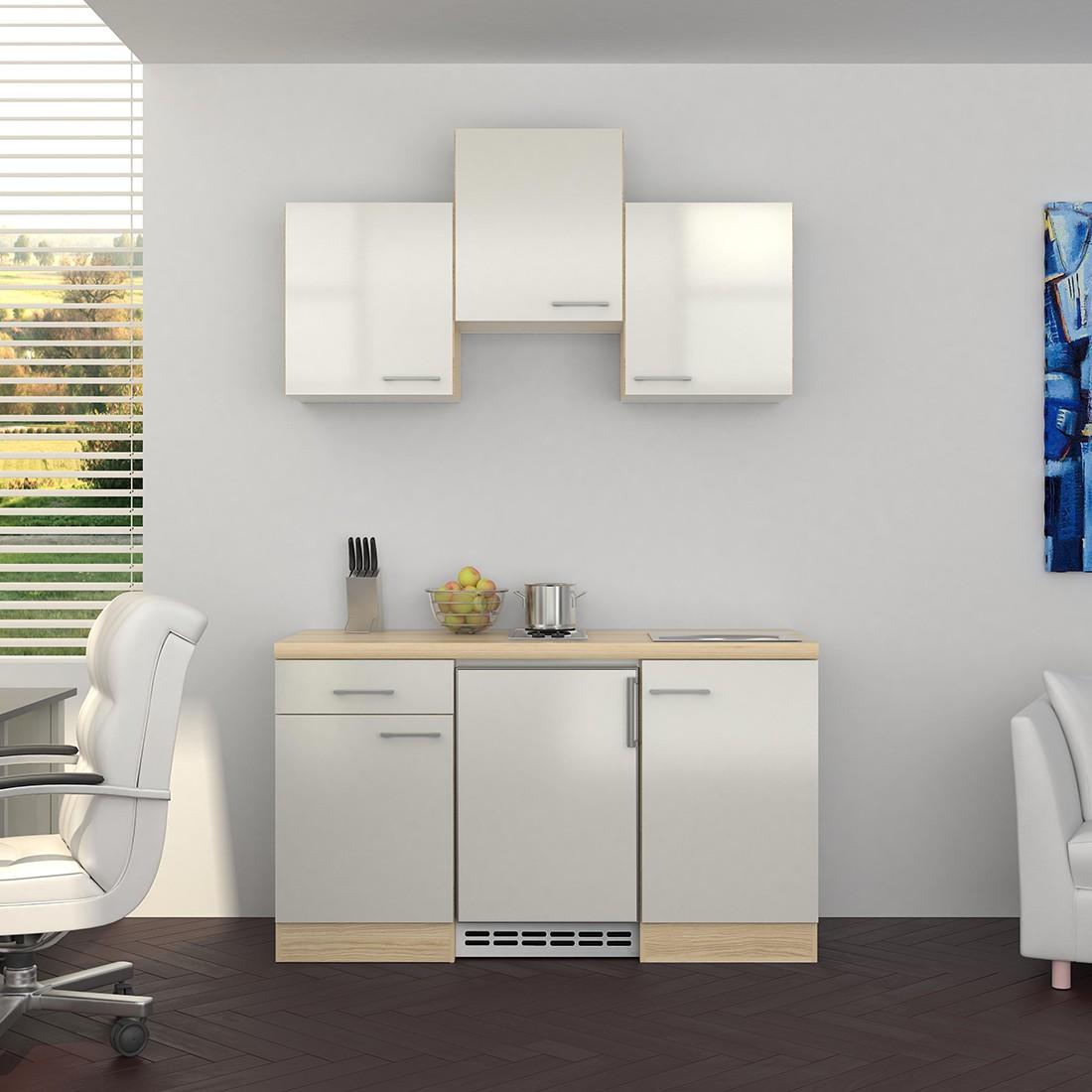 singlek che florenz mit elektro kochfeld und k hlschrank breite 150 cm perlmutt wei k che. Black Bedroom Furniture Sets. Home Design Ideas