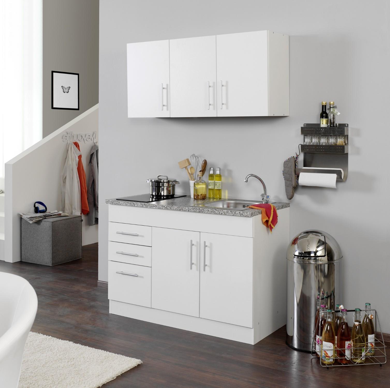 singlek che berlin glaskeramik kochfeld breite 120 cm wei k che singlek chen. Black Bedroom Furniture Sets. Home Design Ideas