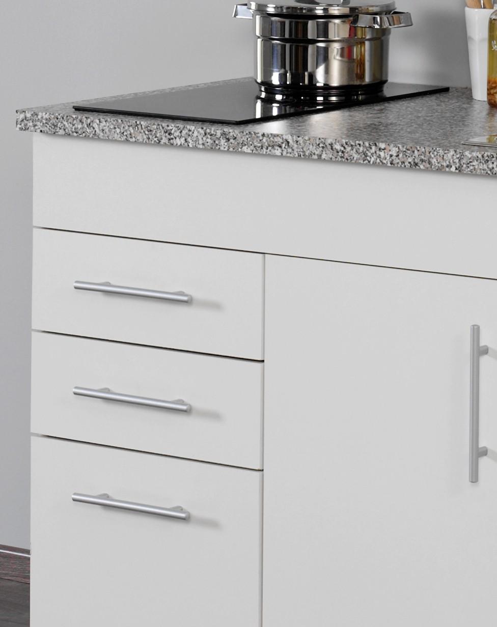 neu singlek che berlin mit glaskeramikkochfeld minik che 120cm b rok che wei ebay. Black Bedroom Furniture Sets. Home Design Ideas