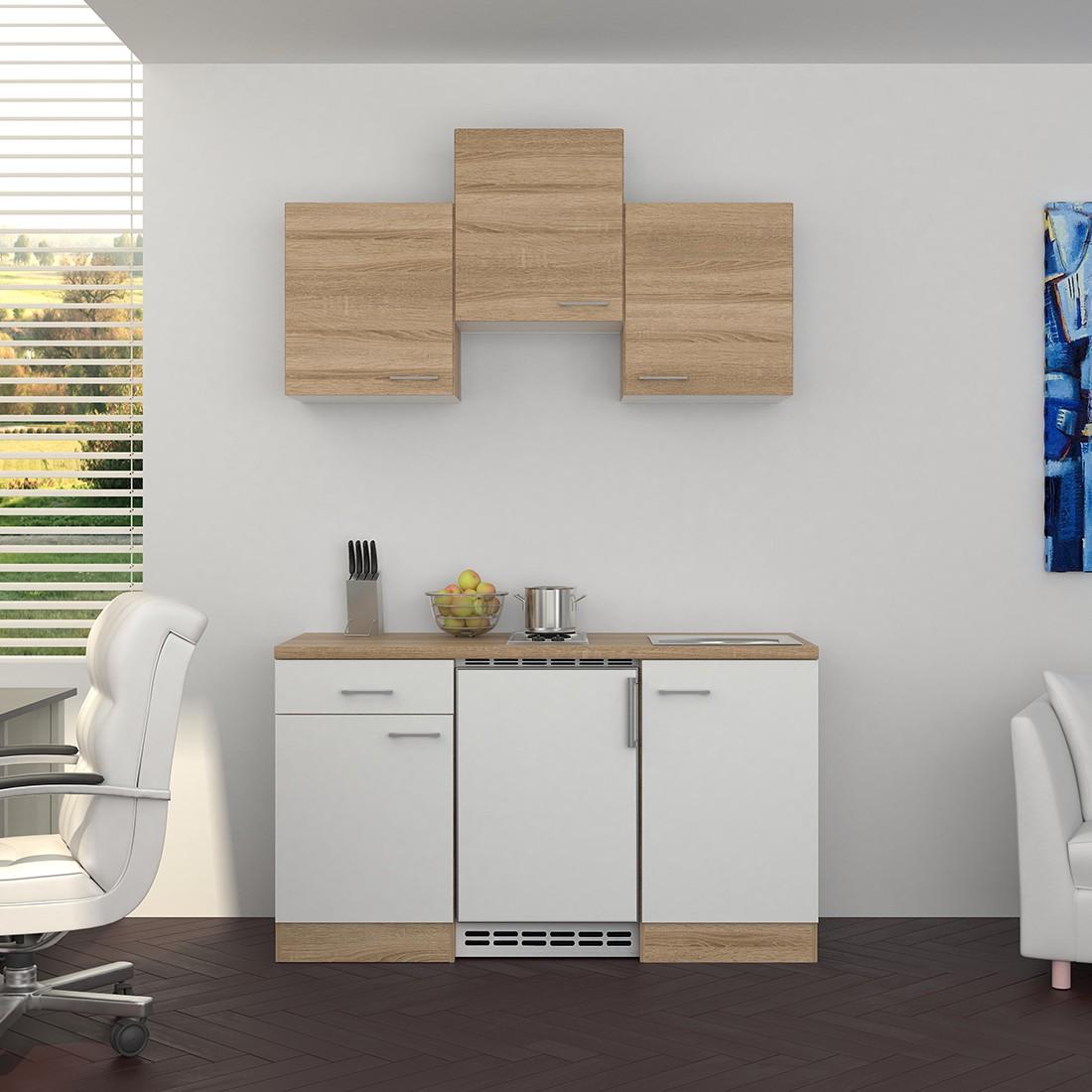 singlek che rom mit elektro kochfeld und k hlschrank breite 150 cm wei k che singlek chen. Black Bedroom Furniture Sets. Home Design Ideas