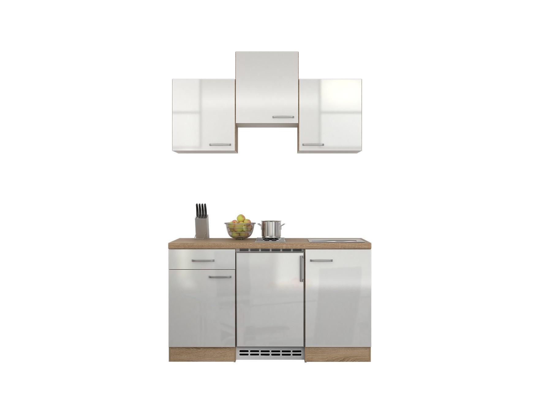 singlek che venedig mit elektro kochfeld und k hlschrank breite 150 cm wei k che singlek chen. Black Bedroom Furniture Sets. Home Design Ideas