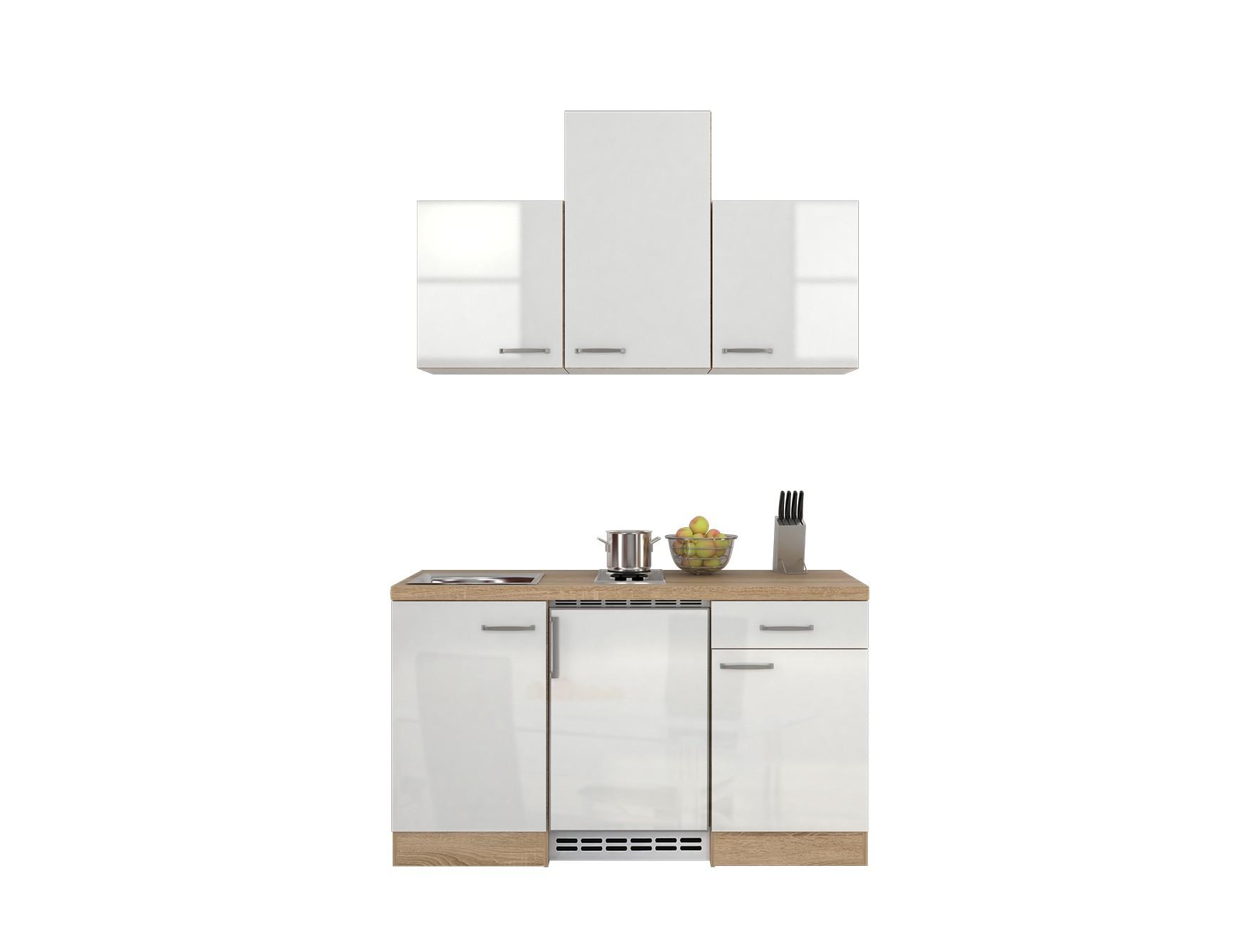 singlek che venedig 9 teilig breite 150 cm wei k che singlek chen. Black Bedroom Furniture Sets. Home Design Ideas