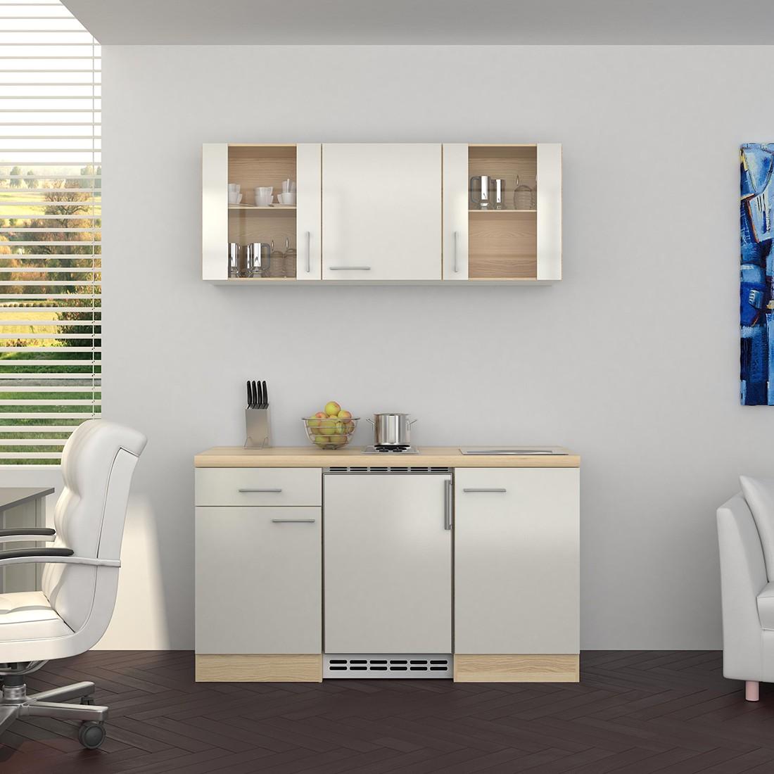 singlek che florenz 9 teilig 2 glash nger breite 150 cm perlmutt wei k che singlek chen. Black Bedroom Furniture Sets. Home Design Ideas