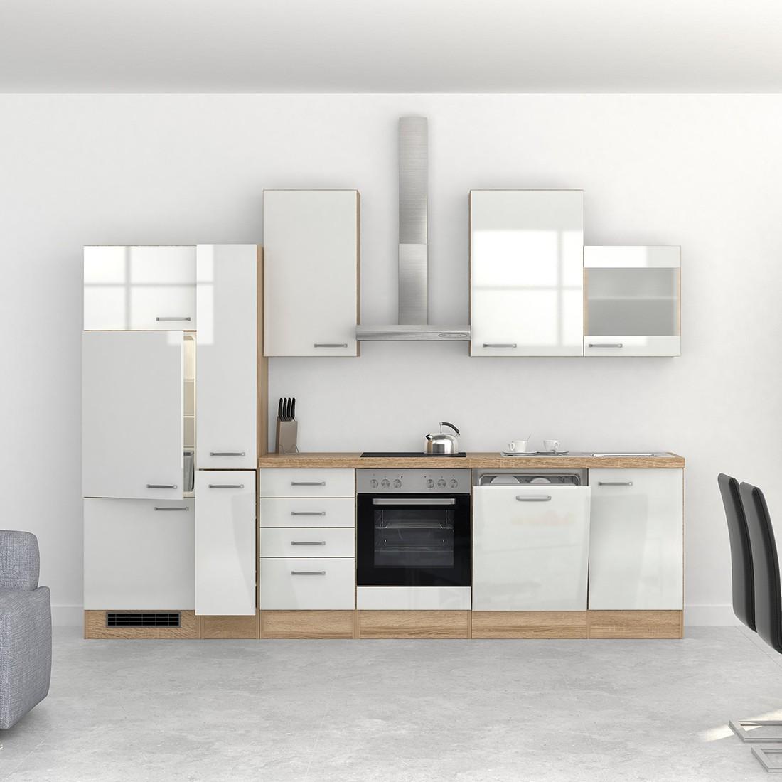 k chenzeile venedig k che mit e ger ten und 1 glash nger. Black Bedroom Furniture Sets. Home Design Ideas