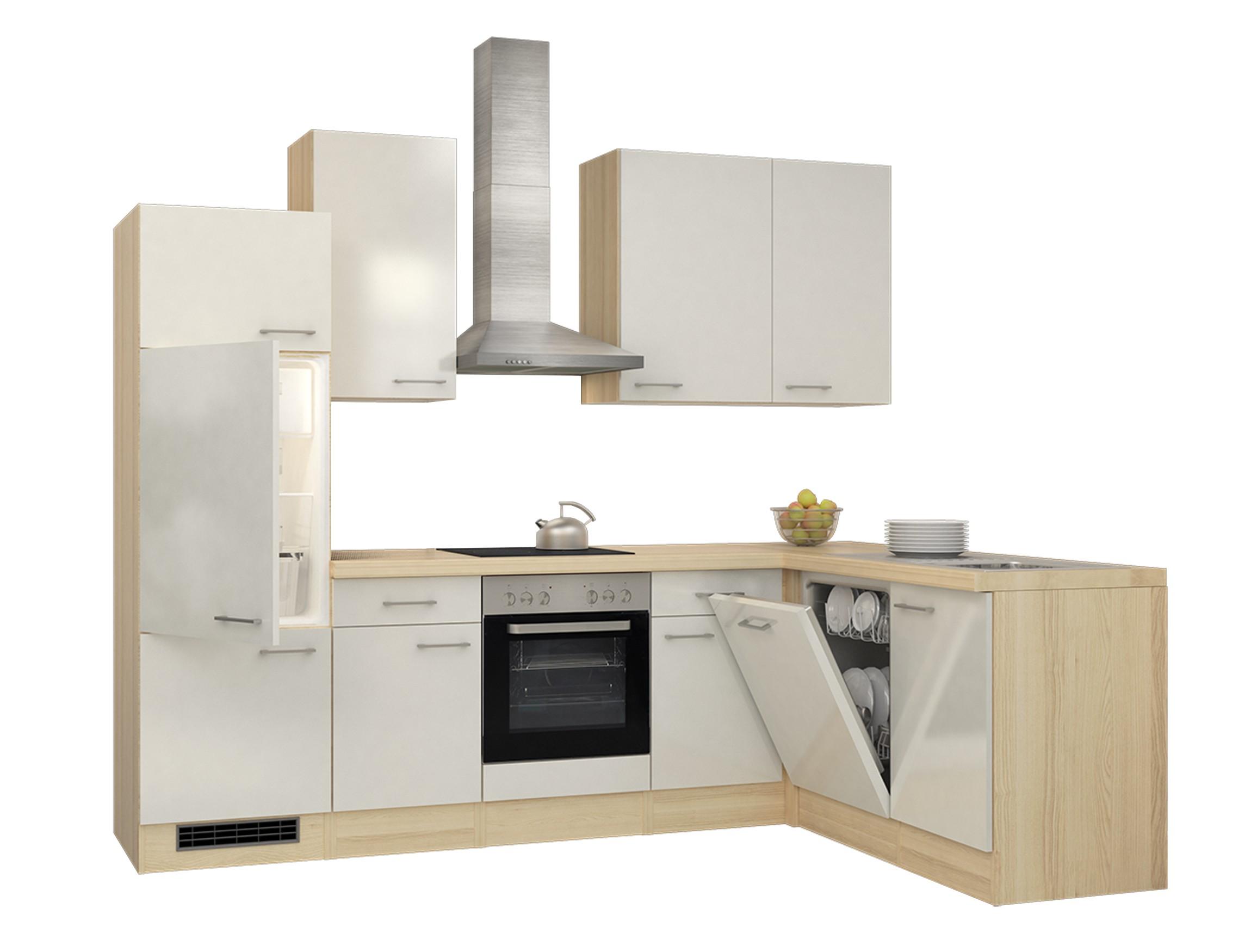 eckk che florenz k che mit e ger ten breite 280 x 170 cm perlmutt wei k che k chenzeilen. Black Bedroom Furniture Sets. Home Design Ideas