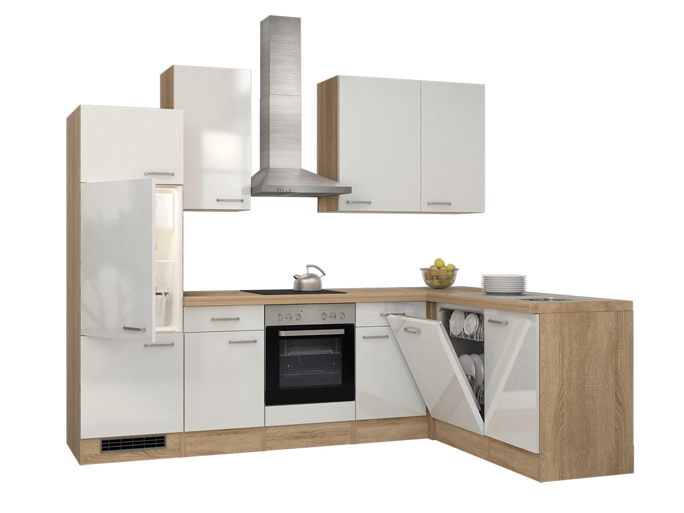 eckk che venedig k che mit e ger ten breite 280 x 170 cm wei k che k chenzeilen. Black Bedroom Furniture Sets. Home Design Ideas