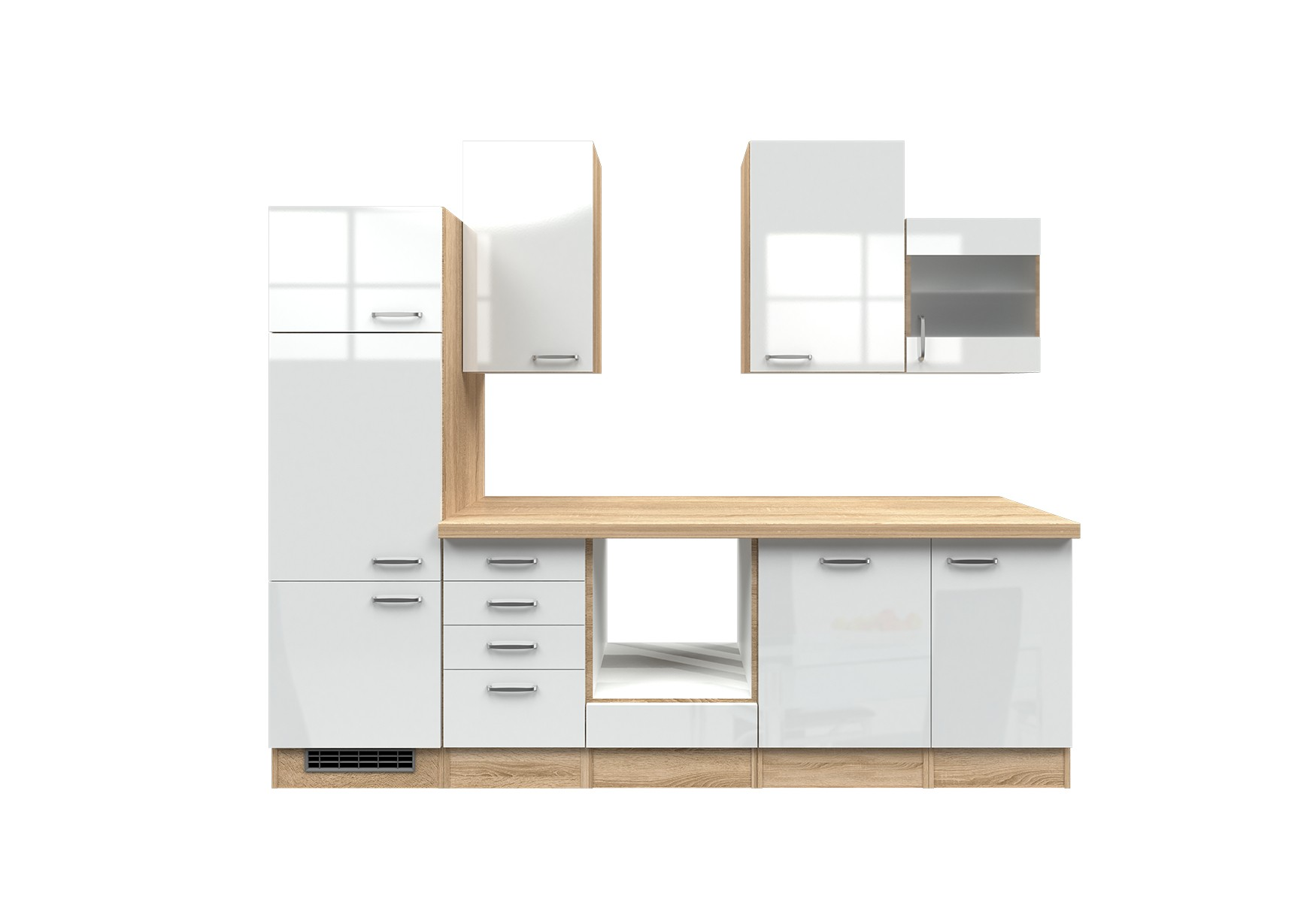 k chenzeile venedig k chen leerblock breite 280 cm. Black Bedroom Furniture Sets. Home Design Ideas