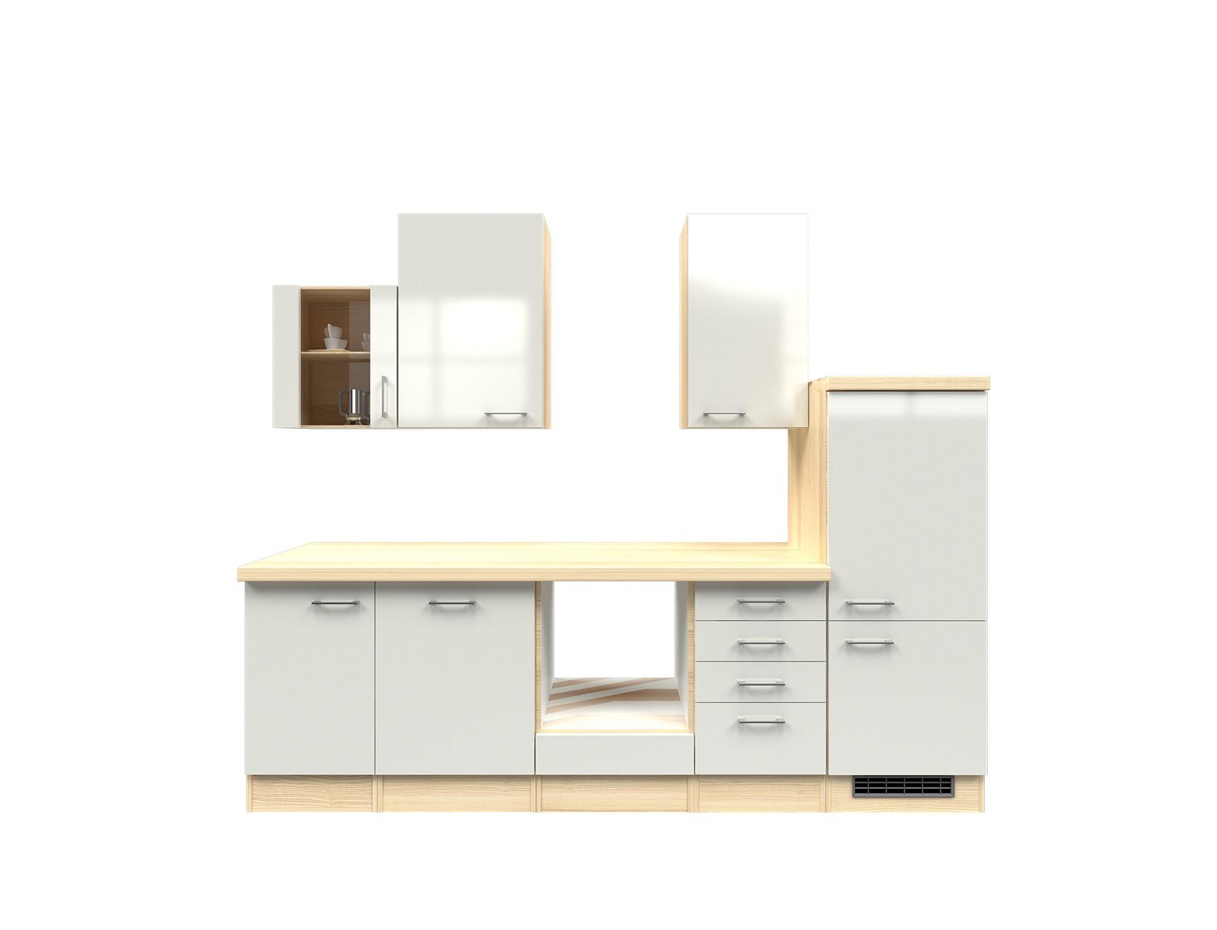 Küchenzeile FLORENZ Küchen Leerblock mit Midi